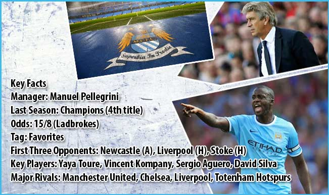 Manchester City EPL Team 2014