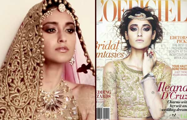 Watch making: Sexy bride Ileana D'Cruz features on L'Officiel India August 2014