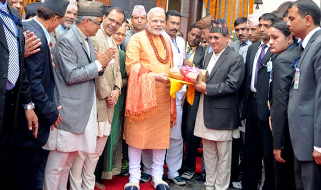 Narendra Modi prays at Pashupatinath temple, offers 2,500 kg of sandalwood