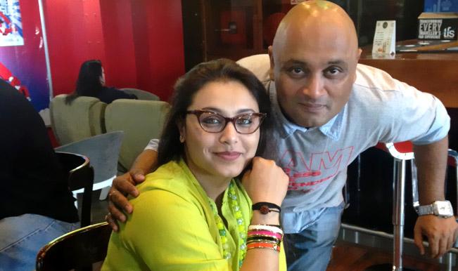 Rani Mukerji's brother ties a rakhi to his 'Mardaani ...