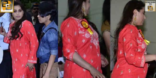 0e6146953dd Is Rani Mukerji trying to hide her baby bump  Watch video
