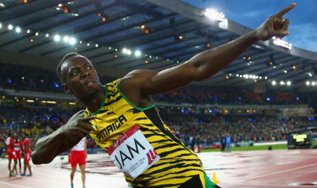 Usain Bolt at CWG 2014