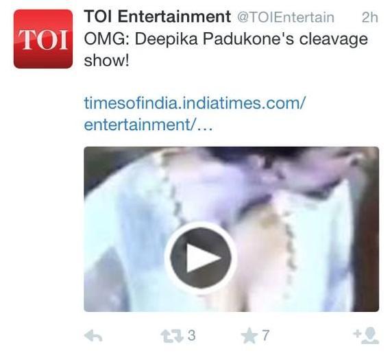 Deepika Padukone cleavage tweet: The 'dirty shot' – Publicity or disgusting side of being a movie star?