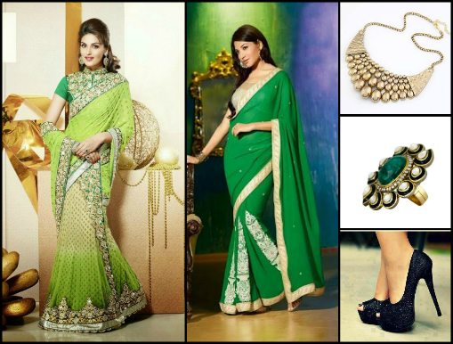 Green Is A Common Color And Most Women Manage To Have At Least One Saree In Their Wardrobe You Don T Need Great Make Over Look Good