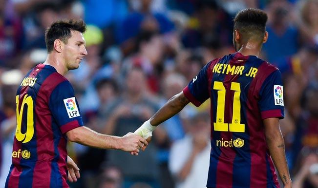 Messi & Neymar of Barcelona