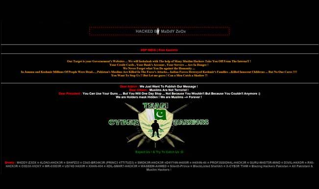 Pakistani hackers storm Press Club of India website as