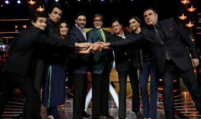 Shah Rukh Khan and Deepika Padukone promote Happy New Year on Kaun Banega Crorepati