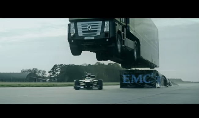 Epic World-Record: Truck jumps over F1 car; viral video generates 9 million views!
