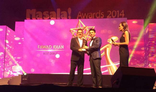 fawad Khan wins Masala awards2014