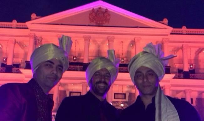 Karan Johar Kabir Khan and Salman Khan at Arpita Khan wedding