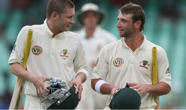 Michael Clarke and Phillips Hughes