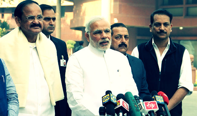 Narendra Modi Venkaaiah Naidu Rajiv Pratap Rudy