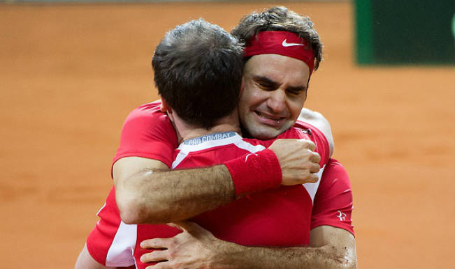 An emotional Roger Federer dedicates first Davis Cup title win to teammates: Watch teary-eyed Federer!