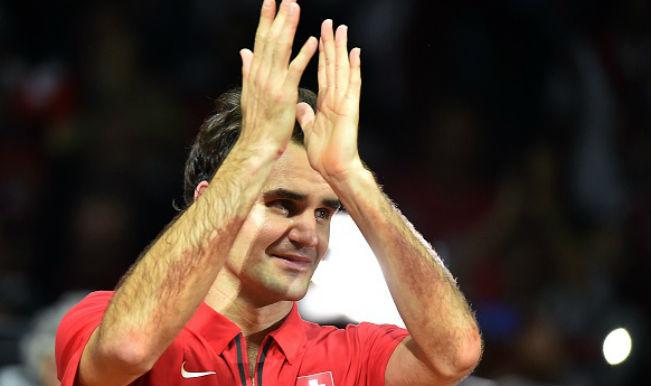 Roger Federer after winning the Davis Cup