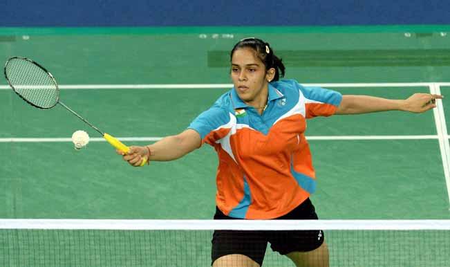 Saina-Nehwal-plays-a-shot-against-Macaus-U-Teng-Lok-in-their-womens-single-