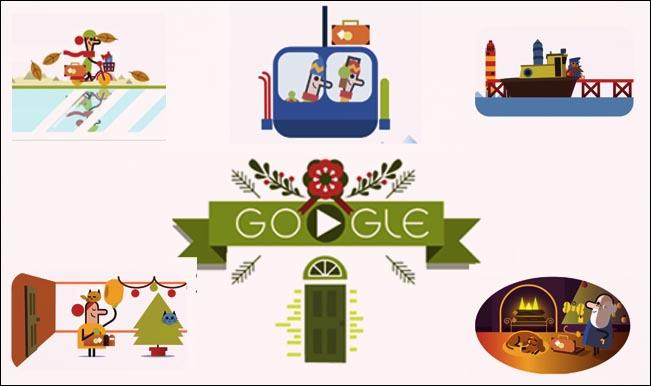 merry christmas google doodle tis the season latest doodle begins