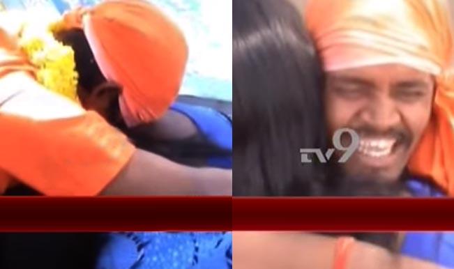 818c7609b1 Hugging and Kissing Baba arrested in Kadapa: Watch video of fake godman  kissing women devotees