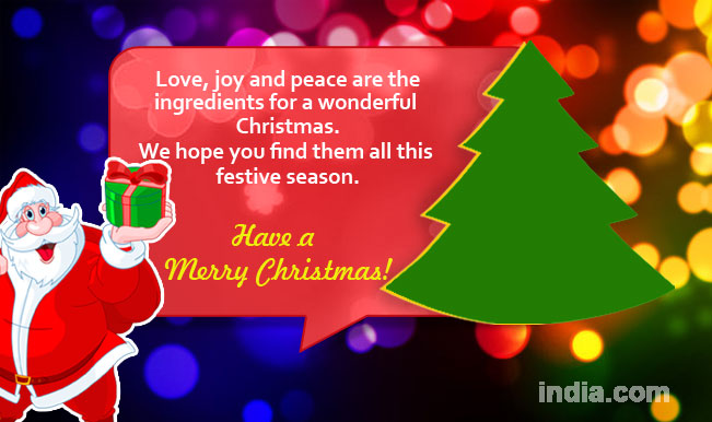 Christmas messages 2014 new merry christmas sms whatsapp whatsapp message reads love joy and peace are the ingredients for a wonderful christmas we hope you find them all this festive season m4hsunfo