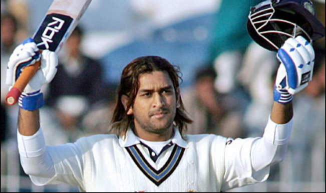 MS Dhoni first test century