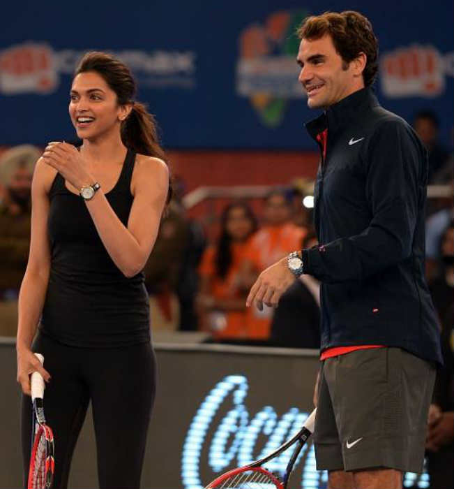Roger Federer and Deepika Padukone