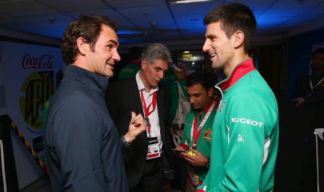 ¿Cuánto mide Novak Djokovic? - Altura - Real height Roger-federer-and-novak-djokovic-in-iptl