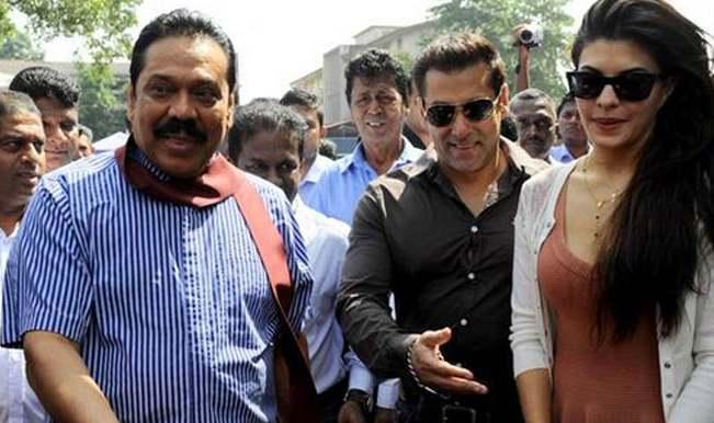 Salman Khan, Jacqueline Fernandez campaign for Sri Lankan President Mahinda Rajapakse's re-election