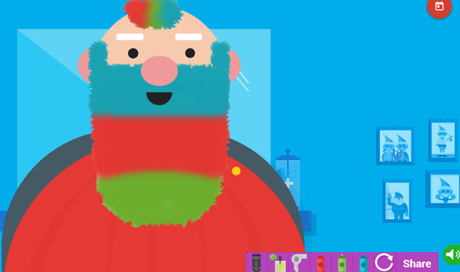 Santa Claus Tracker New game lets you colour Santas beard
