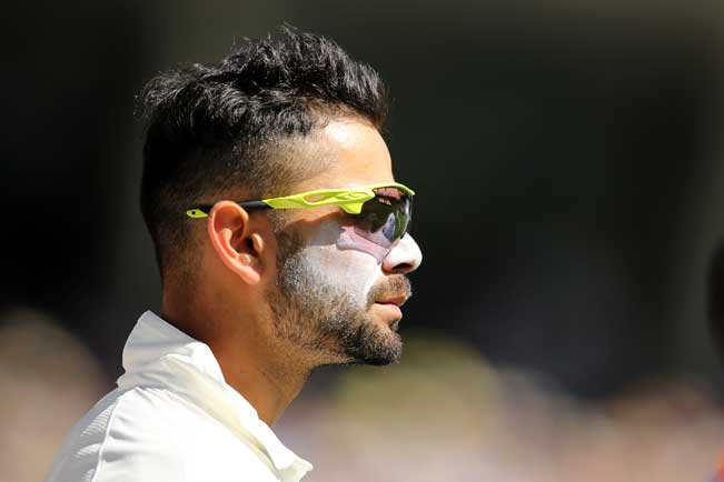 Virat-Kohli-of-India-looks-on-during-day-one-of-the-First-Test-match