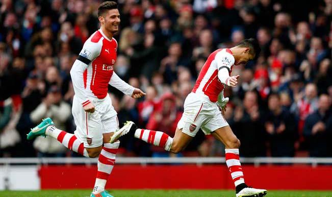 Alexis Sanchez 2014 Arsenal Celebration