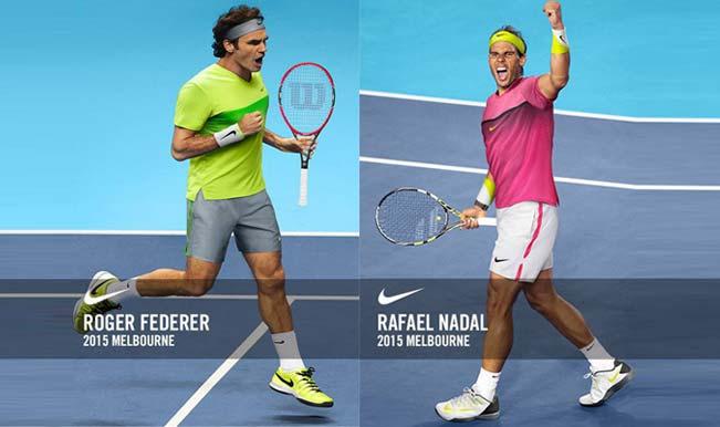 Roger Federer In Lime Vs Rafael Nadal In Pink Who Gets A Thumbs Up In Australian Open 2015 India Com