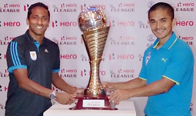 ... by Bengaluru FC's Sunil Chhetri and Dempo SC's Clifford Miranda