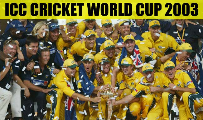 Icc Cricket World Cup 2003 History Records And Tournament Overview Of 8th Edition India Com