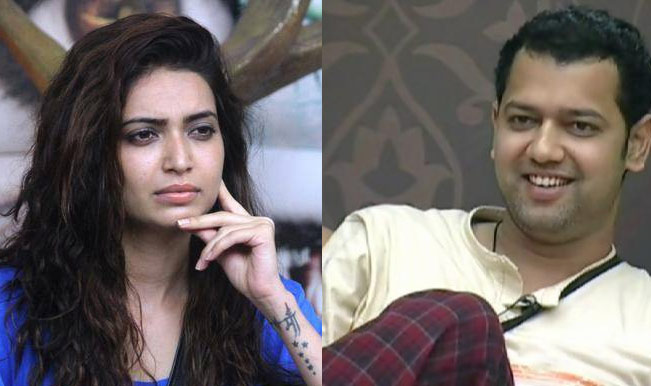 Bigg Boss Weekend Ka Halla Bol Sana Khan Evicted Karishma Tanna And Rahul Mahajan To Walk Hand In Hand India Com