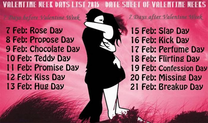 Anti Valentine S Day 2015 Dates For Slap Day Kick Day Break Up