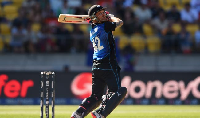 Brendon McCullum during his blazing fifty against Australia | Image Source: ICC