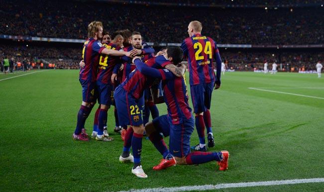 Barcelona-celebration-el-Clasico