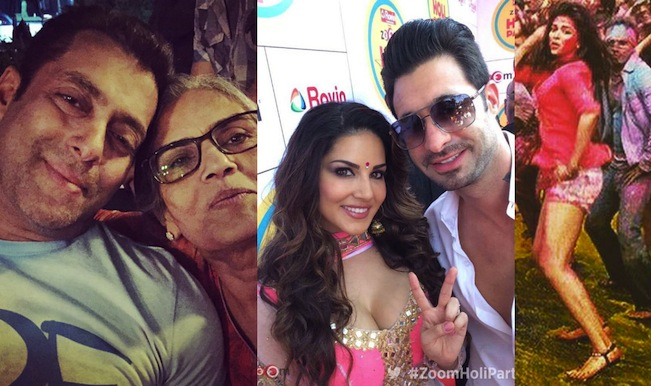 Salman Khan, Sunny Leone and the Bachchans enjoy Holi; but why is Katrina Kaif sulking?