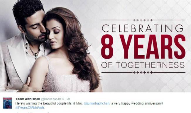 Aishwarya Rai Bachchan and Abhishek Bachchan 8th wedding anniversary: Watch special video!