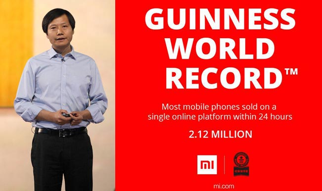 Xiaomi creates Guinness World Record for maximum phones sold online in a day