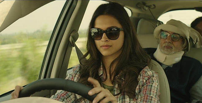 The taking-care-of-Baba look of Deepika Padukone in Piku