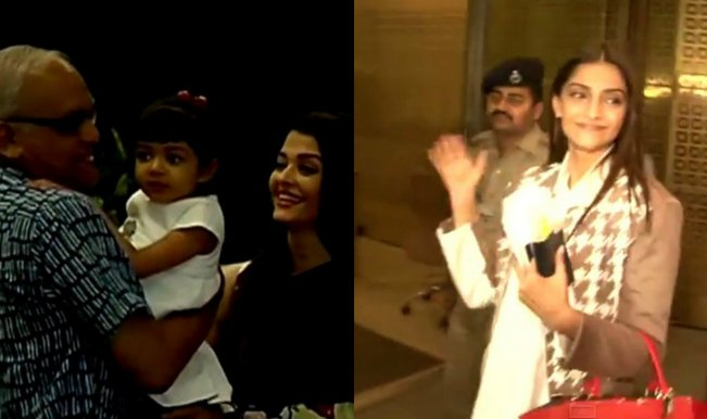 Aishwarya Rai Bachchan leaves for Cannes 2015, Aaradhya Bachchan and Sonam Kapoor in tow (Watch video)