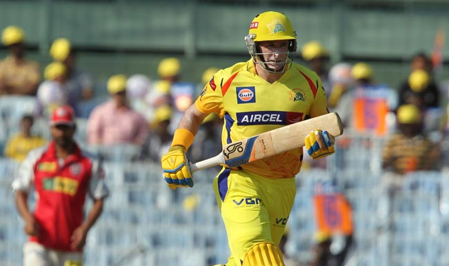 CSK-opener-Michael-Hussey-in-action-during-the-match-between-Chennai-Super-Kings-and-Kings-XI-Punjab-at-MA-Chidambaram-Stadium