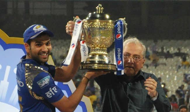 rohit sharma lifting ipl cup