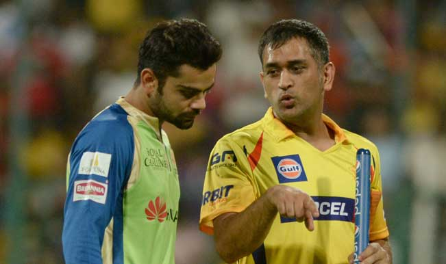 Royal-Challengers-Bangalore-skipper-Virat-Kohli-and-Chennai-Super-Kings-skipper-MS-Dhoni-interacts-after-the-e
