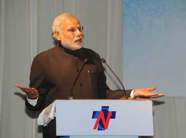 The-Prime-Minister,-Shri-Narendra-Modi-addressing-at-the-official-handover-and-inaugural-ceremony-of-the-Nati