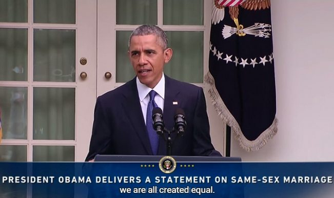 Barack Obama speaks on the US Supreme Court's decision on Marriage Equality