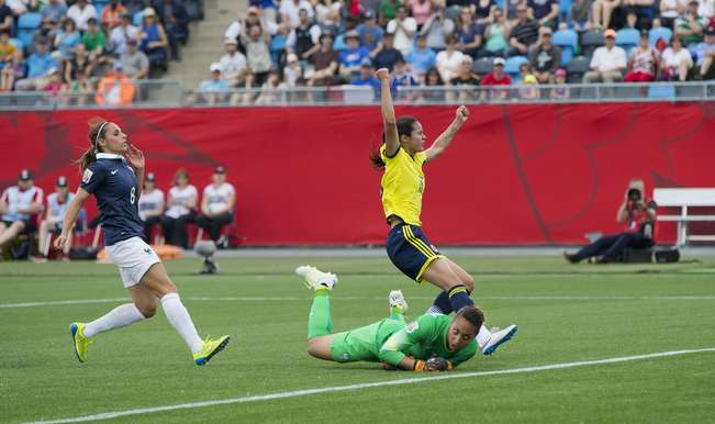 FIFA Women's World Cup 2015: Colombia vs France match ...