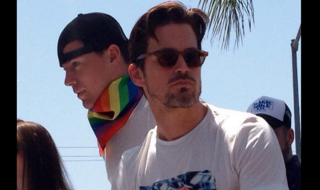 Channing Tatum, Matt Bomer dance at Gay Pride Parade