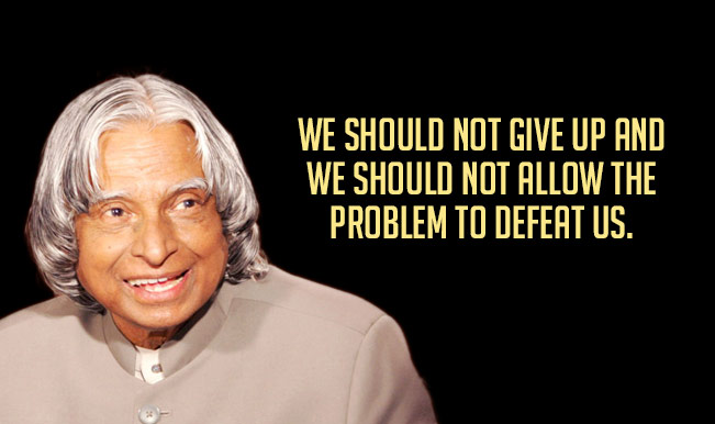 abdul kalam inspirational quotes thoughts speech