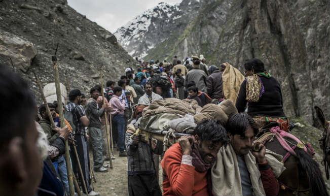 Image result for Fresh batch of pilgrims leave for Amarnath yatra